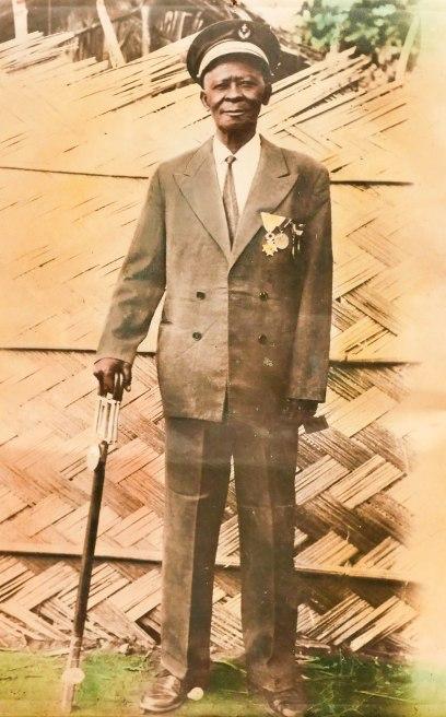 Zanga Avom, Antoine Stammeschef der Essanya, Gründer des Dorfes, Soldat der deutschen und später französischen Armee, gestorben 1977