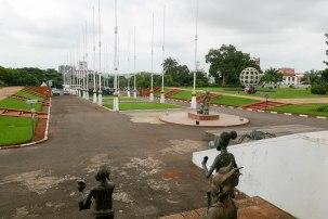 Ein Blick auf den Platz vor dem ehemaligen Präsidentenpalast.