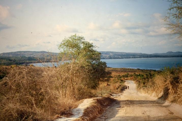 Ein Weg hinunter zum indischen Ozean in der Nähe von Lindi.
